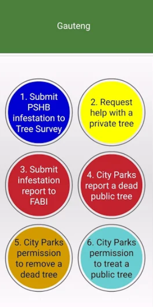 Tree Survey Mobile App - Action against PSHB